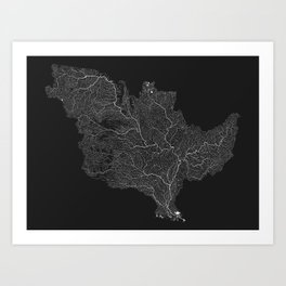 The Mississippi-Missouri-Ohio Basin Art Print