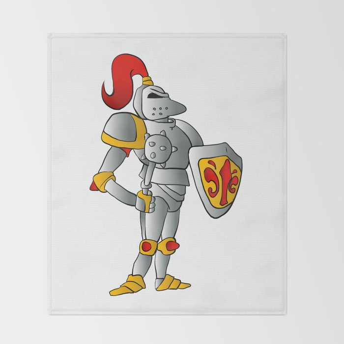 Cartoon knight. Throw Blanket