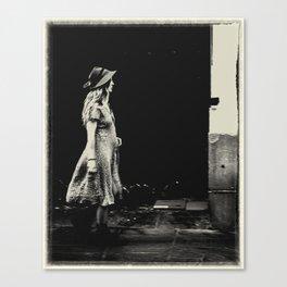 Walking Girl in NOLA Canvas Print