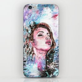 The cold breath iPhone Skin