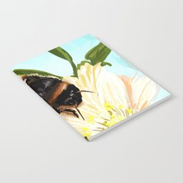 Bee on flower 4 Notebook
