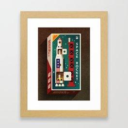 Space Rocket Framed Art Print