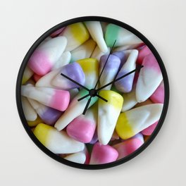 Easter Candy Corn Wall Clock