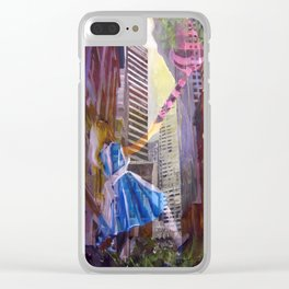 Alice and the Cheshire cat Clear iPhone Case