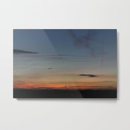 English Sky at Sunset in the Flat Landscape of Lincolnshire Metal Print