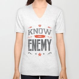 KNOW YOUR ENEMY Unisex V-Neck