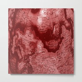 Russia in Red Metal Print