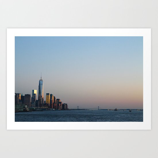 NYC Sunset  Art Print