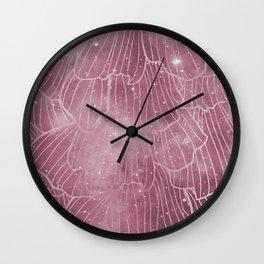 Galaxy rose - deep mauve Wall Clock