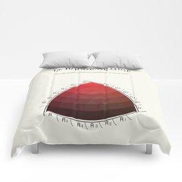Le Rouge-Orangé (ses diverses nuances combinées avec le noir) Remake (Interpretation) Comforters
