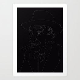 Lineart Jimmy Durante Art Print