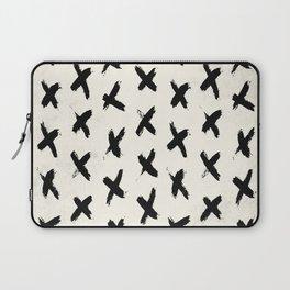 Black X on Ivory Laptop Sleeve