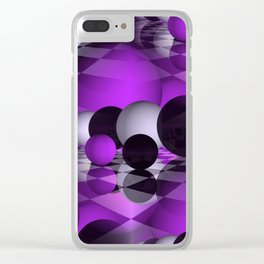 3D - abstraction -111- Clear iPhone Case