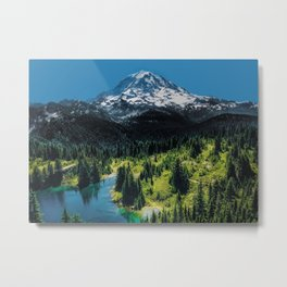 The Mountain is Calling Metal Print