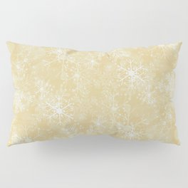 Gold Snowflakes Pillow Sham