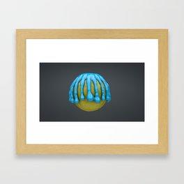 Lemon Drips Framed Art Print