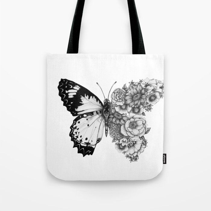 Butterfly in Bloom Tote Bag
