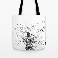 bane Tote Bags featuring Bane by justjeff