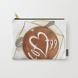 Coffee Love Latte Art Carry-All Pouch