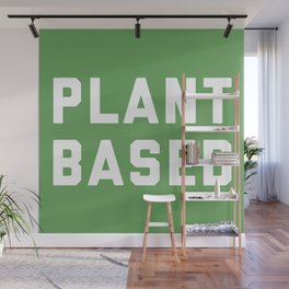 Plant Based Vegan Quote Wall Mural