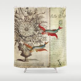 Fish of a Feather Shower Curtain