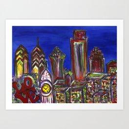 Philly Skyline LOVE Art Print
