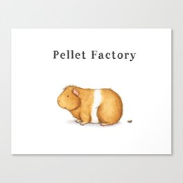 Pellet Factory - Guinea Pig Poop Canvas Print