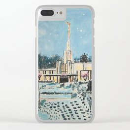Atlanta Georgia LDS Temple Snowfall Clear iPhone Case