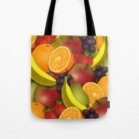 fruit Tote Bags featuring Fruit by AdamSteve