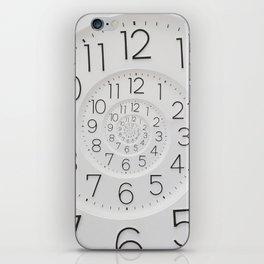 Spiral Clock Droste iPhone Skin