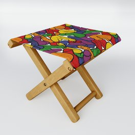 Schlong Song in Rainbow, All the Penis! Folding Stool