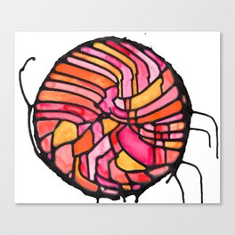 Sunset Soiree Medallion Canvas Print