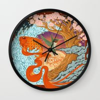 the national Wall Clocks featuring National Ignition by Nathaniel Reeves