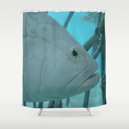 The White Guy Shower Curtain