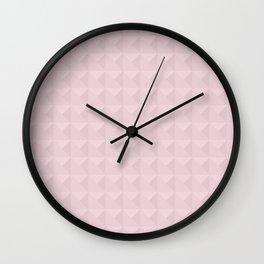 Light pink simple geometric Wall Clock