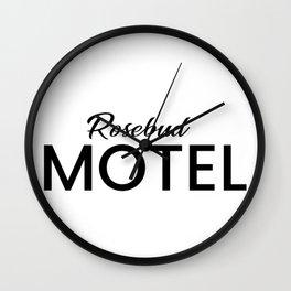 Rosebud Motel Wall Clock
