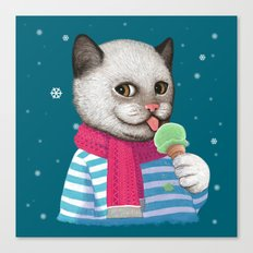 Ice cream & Snow Canvas Print