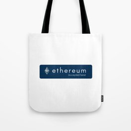 Accepted here: Ethereum Tote Bag