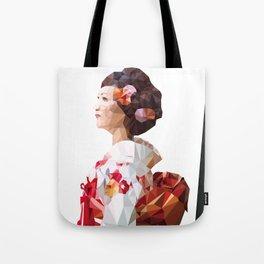 Polygonal Kimono girl 2 Tote Bag