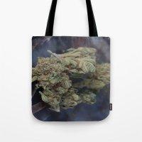medical Tote Bags featuring Medical Marijuana Deep Sleep by BudProducts.us