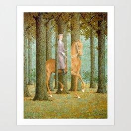 Rene Magritte / The blank check Art Print