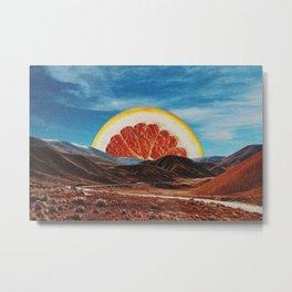Orange Vale Metal Print