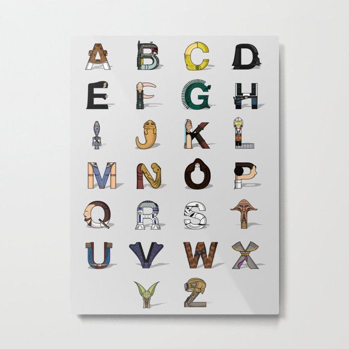 Star W. alphabet Metal Print