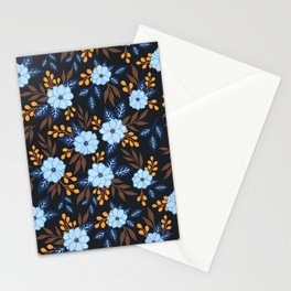 Soft Blue Florals Stationery Cards