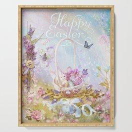 Lavender Easter Serving Tray