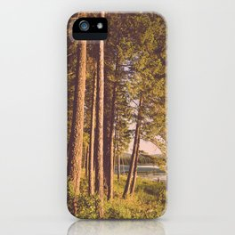 Retro Forest iPhone Case