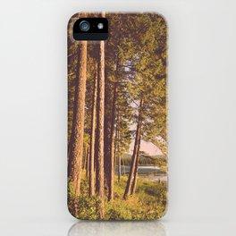 Retro Forest iPhone Case