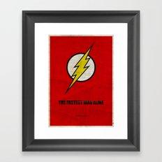 Flash (Super Minimalist series) Framed Art Print