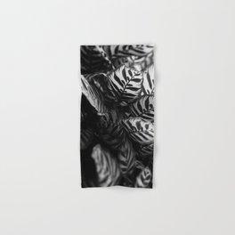 The Black & White Peacock Hand & Bath Towel