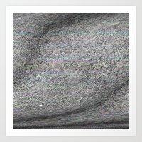 04-22-14 (Grasses Bitmap Glitch) Art Print